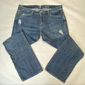 7 FOR ALL MANKIND BOOTCUT JEANS size 38